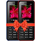 I KALL K20 Dual Sim 4.57 Cm (1.8 Inch) Mobile Phone Combo - K20 (Blue & Red)