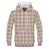 NINGSANJIN Herren Pullover Kapuzenpullover Hoodie Kapuzenpullover Pullover, Longsleeve Sweater Sweatshirt Pulli (Weiß,2XL)