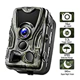 Wildlife Camera, 16MP 1080P HD 80ft Detection Range【Upgraded 2019】Game Camera Night Vision