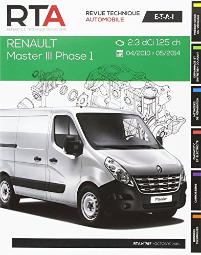 Revue Technique B797 Renault Master III 2.3 dCi 04/2010>Fourgon