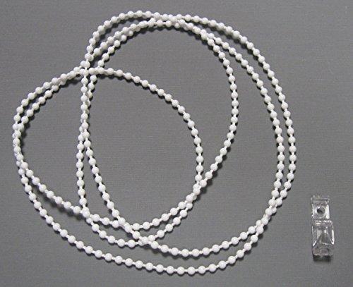 ps FASTFIX Endloskette - Rollokette (weiß) 4,5 * 6 mm - verschweißt - 50-300 cm - Hier 200 cm (Umlauf: 400 cm) - mit Kettenspanner - Ersatzkette für Rollo