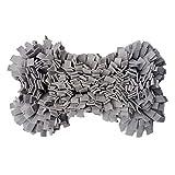 Eternitry Snuffle per Cani Mat Bone Shape Soft Toy Pad Formazione Alimentazione Sniffing Mats Puzzle Giocattoli Pet Supplies Nosework Coperta Nappa