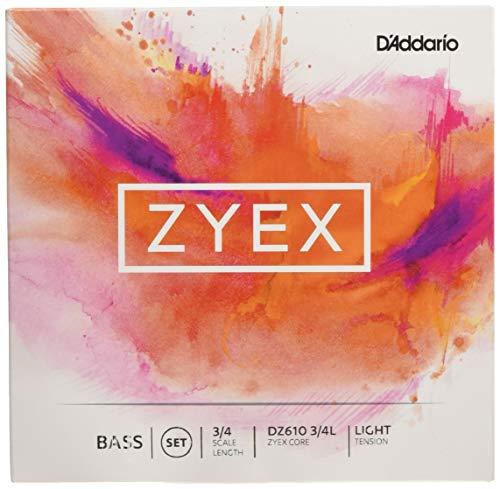 D'Addario DZ610-3/4L Zyex Kontrabass Saitensatz synthetische Faser 3/4 Light