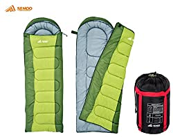 Semoo Schlafsack - Deckenschlafsack - 3-Jahreszeiten-Schlafsack - 180 x 75 cm, Grün