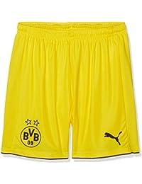 PUMA Kinder Hose BVB Replica Shorts, Pantalones para niños, color Amarillo - Cyber Yellow/Black, talla 146 cm