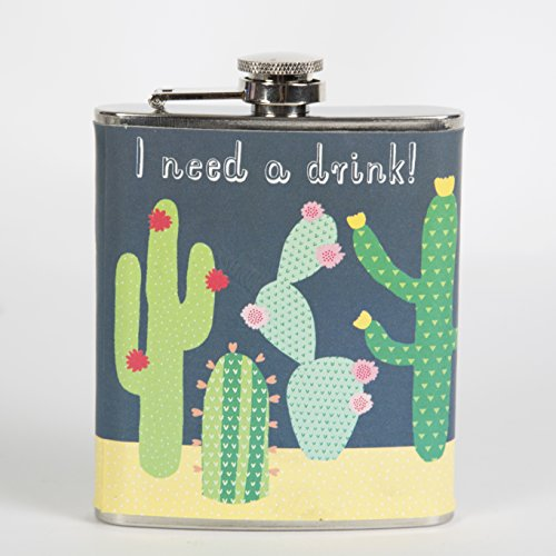 Sass & Belle Flachmann Kaktus I need a drink!
