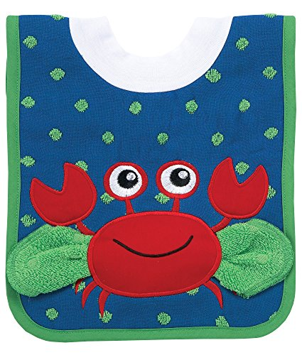 AM PM Kids! AM PM Kids! Pullover Bib with Washcloth, Crab