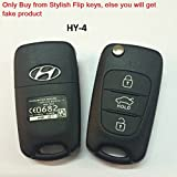 #1: Sfk Replacement Flip Key Shell for Old Hyundai I20 (Uber Cool; Below 2012 Models)