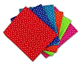The Craft Cotton Fat Quarters Stoffpaket, gepunktet,