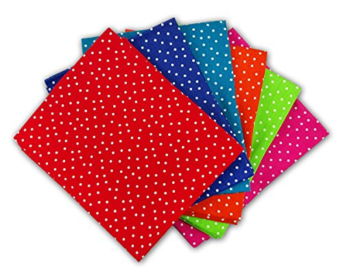 the-craft-cotton-18-x-22-inch-6-piece-fat-quarter-bright-coloured-spotty-fabric-bundle