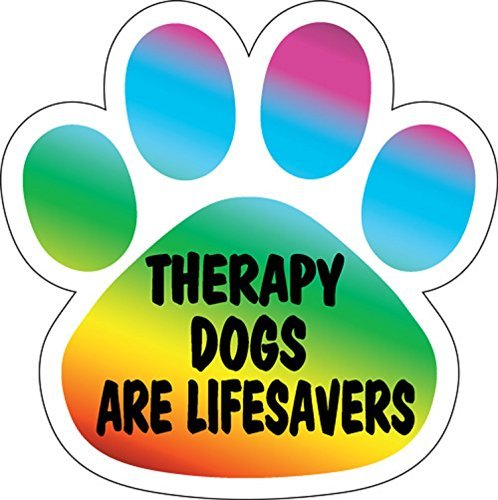 therapy-dogs-are-life-savers-paw-print-car-magnet-5-1-2-by-inkburst-graphics
