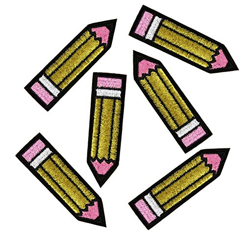 xunhui lápiz Punk hierro en parche ropa parche para ropa bordado...