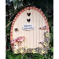 Fairy door, ceramic, fairy garden fairies welcome sign.