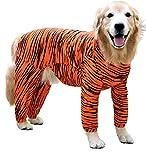 #10: Doxters S32 Dog Summer T Shirt / Onesie / Jumpsuit / Jammies Tiger Orange Shed Defending, Tiger Stripes Size 32, 100% Cotton For Large Dogs 100% Cotton Like Golden Retriever, Labrador, Doberman, Dalmatian, Husky, German Shepherd, Rottweiler, Bull Mastiff