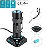 Olight® 600 Lumens S10R Baton III(S10R III) Rechargeable LED Torch EDC USB Charge Flashlight with LUMINUS SST-40 CW LED and Customized 650mAh RCR123A Battery for Outdoors/Household(New Arrival)