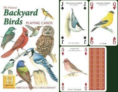 Backyard birds Standard da Poker, carte da gioco con i preferiti yoru da cardinale per (Cardinale Giardino)