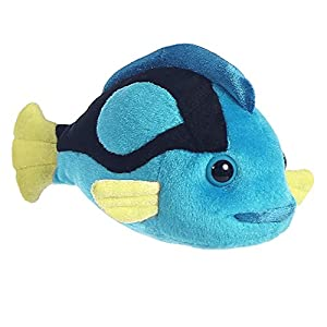 Aurora World Peluche de pez, tamaño Mini, Color Negro, Azul y Amarillo