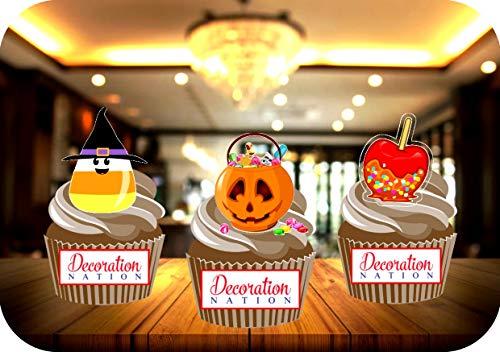 Halloween Candy Mix - Candy Corn Toffee Apples essbare Kuchendekorationen Cupcakes (Halloween Cupcakes, Candy Corn)