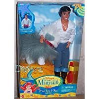 Mattel Disney Prince Eric And Max Doll Set From The Little Mermaid