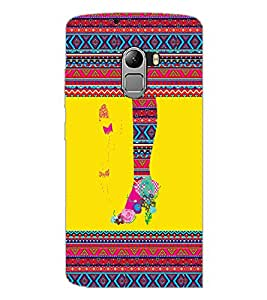 PrintDhaba Tribal Pattern D-4169 Back Case Cover for LENOVO K4 NOTE A7010 (Multi-Coloured)