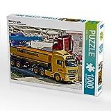 CALVENDO Puzzle Man LKW gelb 1000 Teile Lege-Größe 64 x 48 cm Foto-Puzzle Bild von Geiger Günther