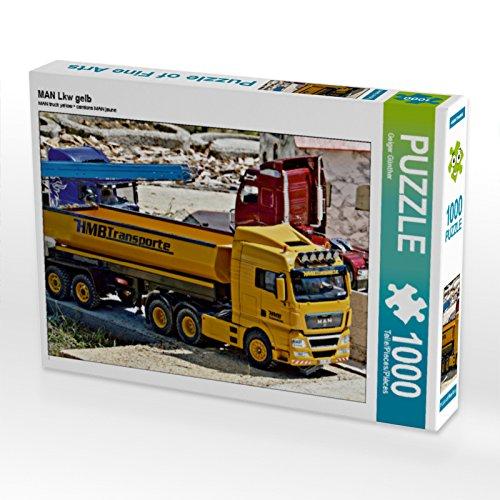 CALVENDO Puzzle Man LKW gelb 1000 Teile Lege-Größe 64 x 48 cm Foto-Puzzle Bild von Geiger Günther (Lkw-puzzle)