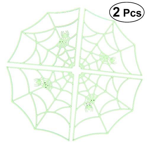 uchtende Spinne Web Halloween Spukhaus Liefert Glow Spider Web Bar Hause Dekorative Requisiten Heikles Spielzeug (Beste Halloween Requisiten)