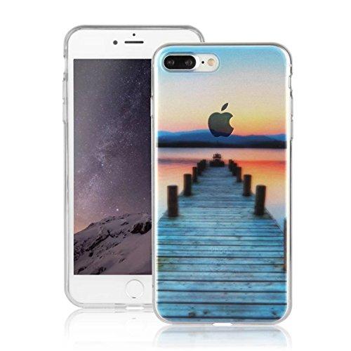 MOONCASE iPhone 7 Plus Coque, Ultra Mince Motif Etui TPU Silicone Antichoc Housse Case pour iPhone 7 Plus (Paysage 07) Paysage 05