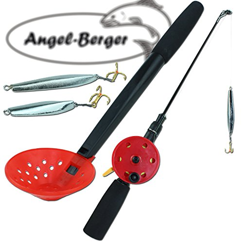 Angel Berger Eisangel Set komplett mit Zocker