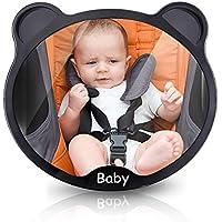 Espejo de coche para bebé ELUTO Espejo retrovisor bebé coche Regulable 360 °Ajuste universal ideal para asiento trasero para coche infantil