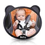 ELUTO Rücksitzspiegel für Babys rückspiegel Baby Auto Sicherheits Baby Spiegel Rückspiegel für Babyschale und Kindersitz Auto Mirror 360° schwenkbar für Baby Kinderbeobachtung.