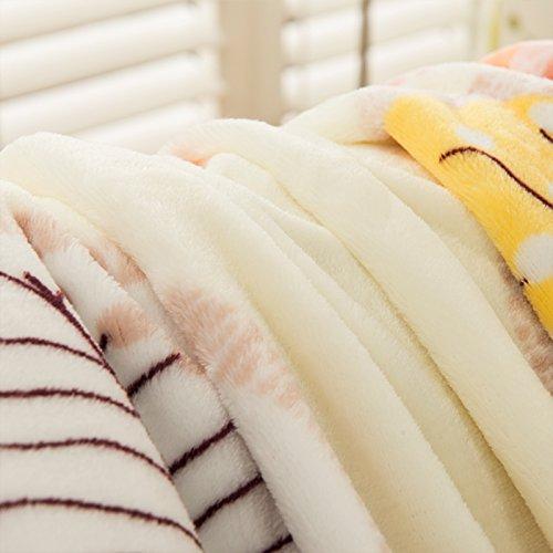 BDUK Das Büro der Decken Decken Flanell Mittagsschlaf Decke Etagenbetten, Klimaanlage und im Winter mit dicken Decken , (Decke Baby Trim)