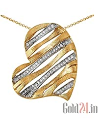 Lurie Jewellery Gold Pendant With Chain With Diamonds - B076Q77DJX