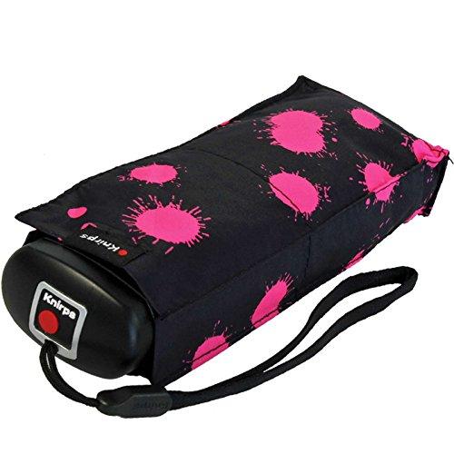 Knirps Regenschirm Mini Taschenschirm Travel klein leicht Paint Drops pink