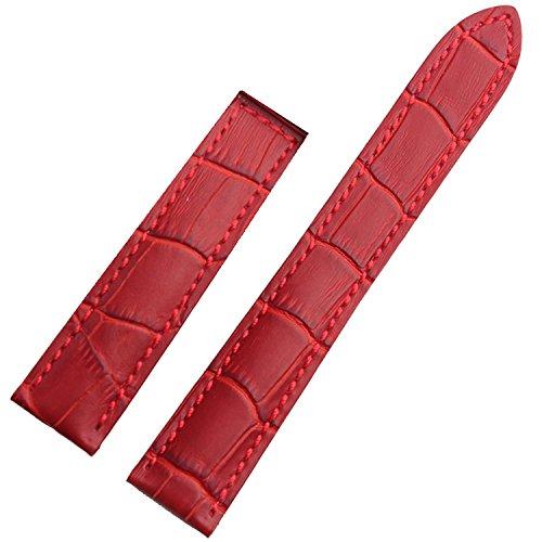 TIME4BEST Damen 20mm rot Leder Uhrenarmband Verschluss gebraucht kaufen  Wird an jeden Ort in Deutschland