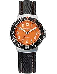 Cannibal Kid's Quartz Watch with orange Dial Analogue Display and Black Plastic or Pu Strap CJ091-19