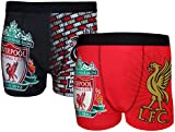 Liverpool FC Official Gift 2 PAIR Pack Mens Crest Boxer Shorts
