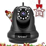 Sricam SP018 Cámara WiFi IP HD de seguridad para el hogar, 1080p cámara de vigilancia inalámbrica 355 ° con visión nocturna para el hogar / oficina / monitor de bebé / niñera / mascota, control remoto