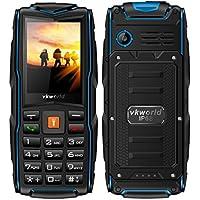 "Telefono Cellulare,VKworld Stone V3 Robusto Telefonia Mobile con Grandi Tasti IP68 Impermeabile Antipolvere Antiurto(2G,2.4 "",2.0MP,64MB + 64MB,Batteria da 3000mAh,Tri Sim,FM,Luci LED)"