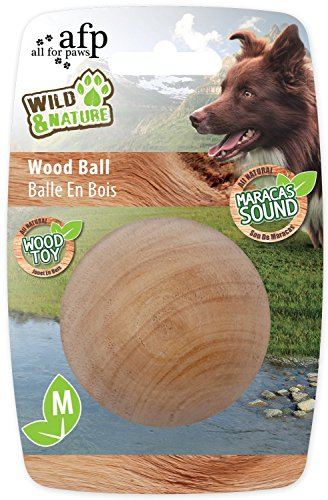 All for Paws Wild & Nature Maracas Wood Ball Medium