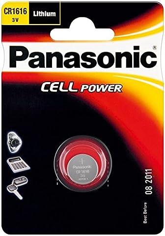 PANASONIC Lot de 3 Piles Bouton Cell Power CR1616 Lithium 3V 0,55 mAh