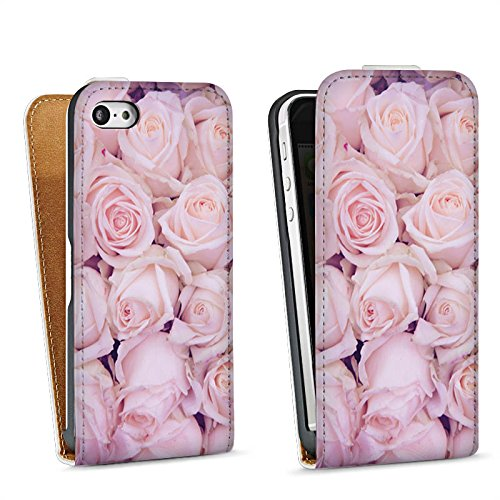 Apple iPhone 6 Housse Étui Silicone Coque Protection Roses Roses Roses Sac Downflip blanc