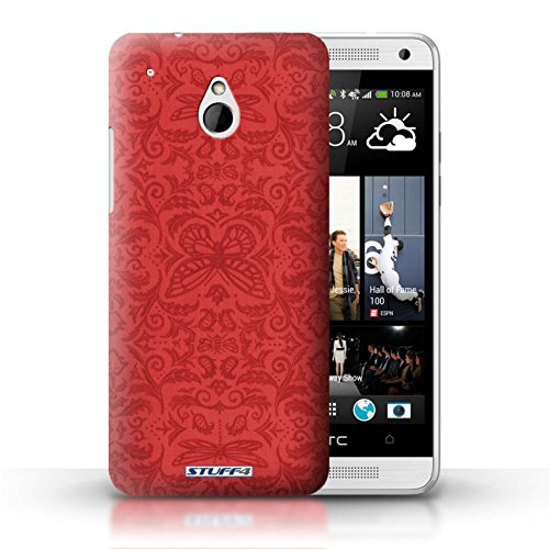 Kobalt® Imprimé Etui / Coque pour HTC One/1 Mini / Jaune conception / Série Motif médaillon Rouge