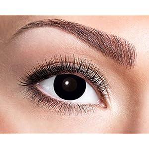 Eyecatcher – Farbige Wochenlinsen Kontaktlinsen, Hexe, 2 Stück Wochenlinsen, schwarz, / BC 8.6 mm / DIA 14.5 mm