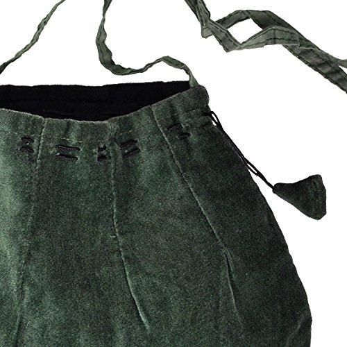Schnürbare Mittelalter Tasche, grün, mit langem Schulterband - 2