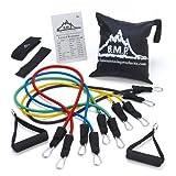 Black Mountain Products Kit de tubes de résistance avec accroche pour porte/chevillère/Tableau d'exercices et sac de transport - Multicolore