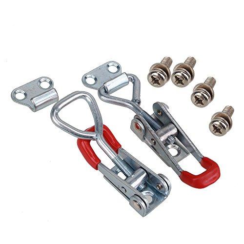 bqlzr Schublade Schrank Brust Hardware Metall verstellbar Toggle Latch Fang Lock Größe S 2Stück