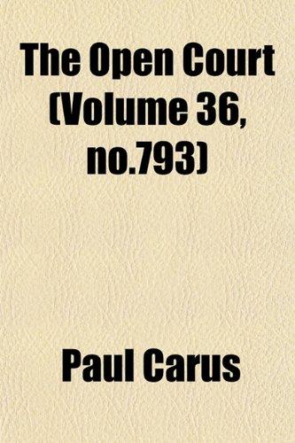 The Open Court (Volume 36, no.793)