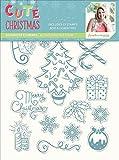 Sara Signature cute Christmas–Photopolymer stamp–elementi decorativi, trasparente
