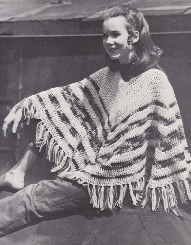 easy-2-color-hippie-poncho-crochet-pattern-english-edition
